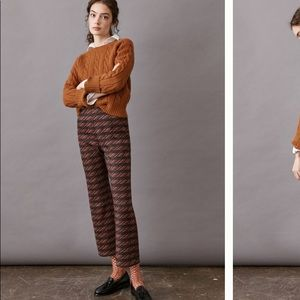 Anthropologie Beth Cropped Flare Pants